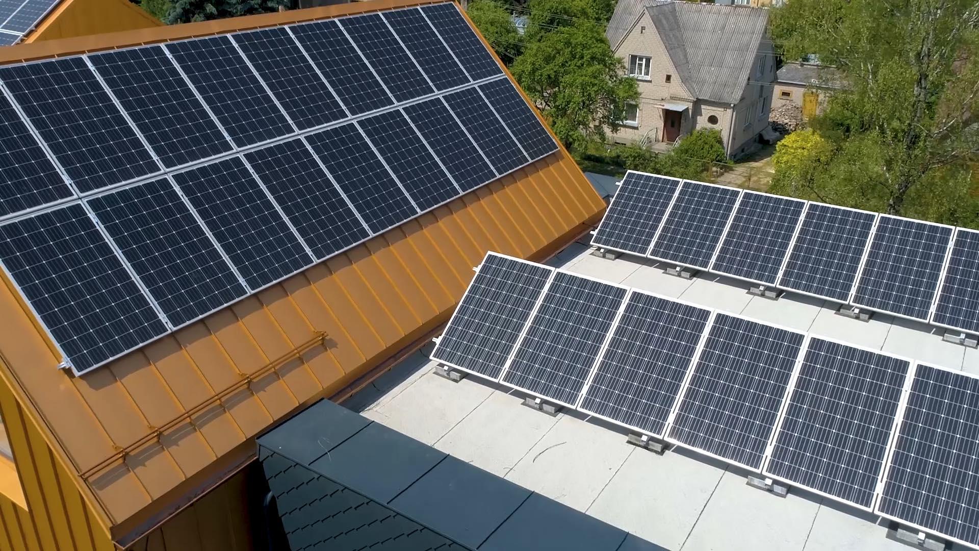 Aeronamų saulės elektrinei – 4 nepriklausomos sistemos